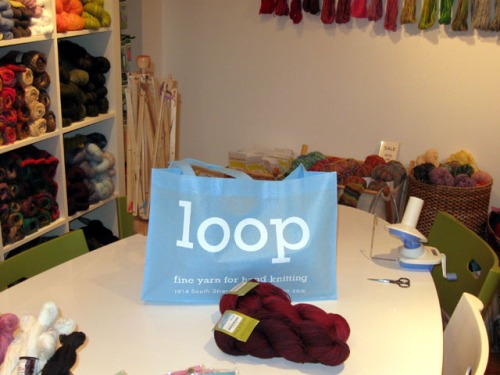 Loop Yarns gives you a wonderful project bag with every purchase