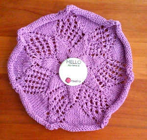 1911 Star Doily -Knit in Lavender Cotton
