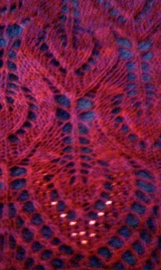 Nightsong Shawl with Beads Detail